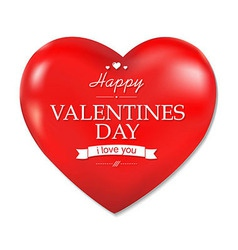 Red Heart Valentines Day vector image vector image