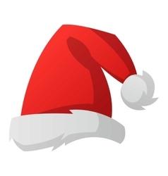 santa christmas hat royalty free vector image vectorstock rh vectorstock com christmas hat vector file christmas hat vector free