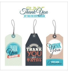 Vintage thank you labels vector image