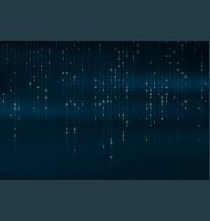 abstract binary code background falling streaming vector image