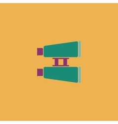 Binocular flat icon vector image