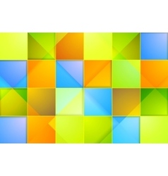 Colorful abstract tech squares background vector