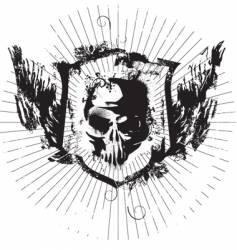 ink skull vector image