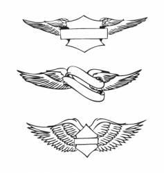 vintage emblem designs vector image vector image