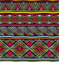 afrikan line pattern vector image