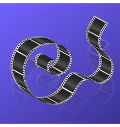 Cine-film on a gradient background vector image