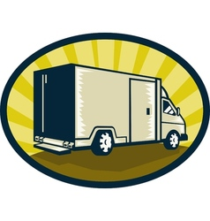 Delivery van viewed from rear side vector image vector image