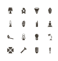 light source - flat icons vector image