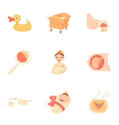 obstetrician icons set cartoon style vector image vector image