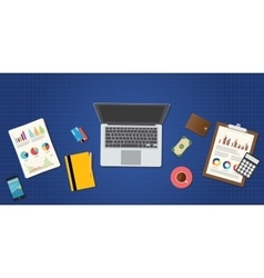 online trading and financial management vector image