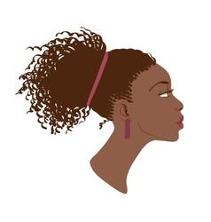 portrait of beautiful women profile vector image