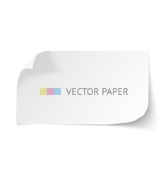 White blank paper curved horizontal banner with vector image vector image