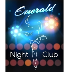 Night Club poster template vector image