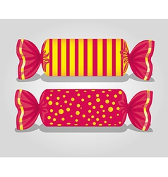rectangular candies lines and dots on gray backgro vector image