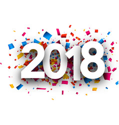 2018 new year festive background vector image