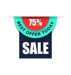 75 sale advert flat vector