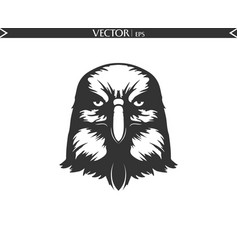 angry eagle silhouette vector image