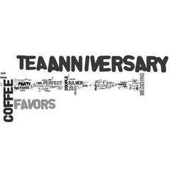 anniversary favor ideas text word cloud concept vector image