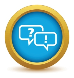 Answering the question icon vector