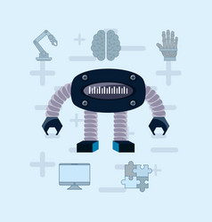 artificial intelligence design vector image