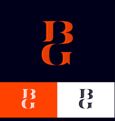 B s monogram logo combined letters emblem vector