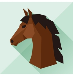 Background with horse head in flat style vector
