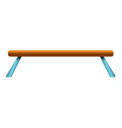 Balance beam icon cartoon style vector