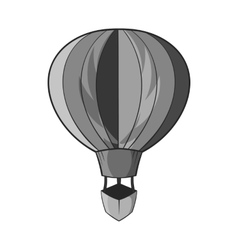 Balloon icon black monochrome style vector