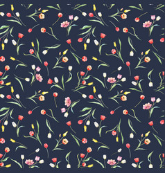 Beautiful seamless pattern with watercolor vector