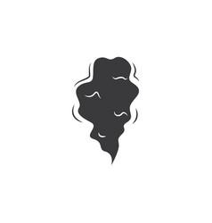 black smoke cloud - cartoon comic style hand drawn vector image
