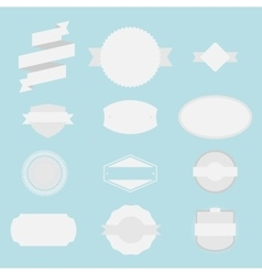 Blank Labels Set vector image