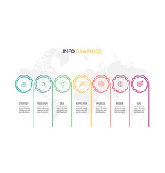 business infographics timeline with 7 options vector image