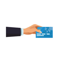 businessman hand with credit card vector image