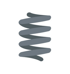 car spring coil icon flat style vector image