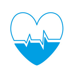 Cardio heart icon vector