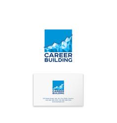 Career building logo human resources management vector