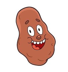Cartoon potato vector