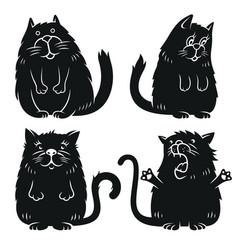 cat set 001 vector image