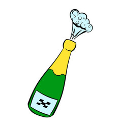 Champagne explosion icon icon cartoon vector