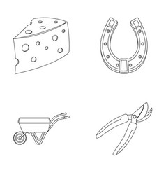 Cheese with holes a trolley for agricultural work vector