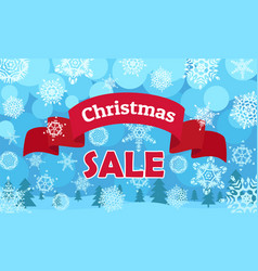 christmas sale banner flat style vector image