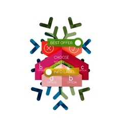 Christmas sale info banner vector