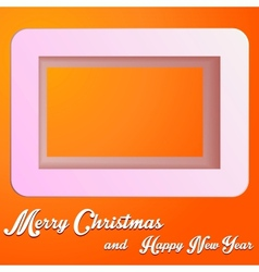 Christmas square vector image