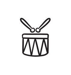 Circus drum sketch icon vector