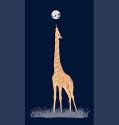 Coloured giraffe vector