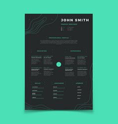 Curriculum vitae template cv resume for vector