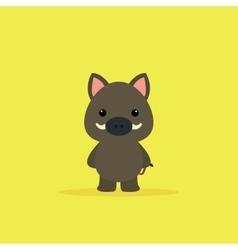 Cute Cartoon wild boar vector