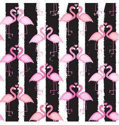 cute seamless flamingo pattern vector image