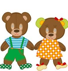 Cute teddy bears vector image
