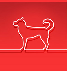 Dog - chinese symbol new year line design vector